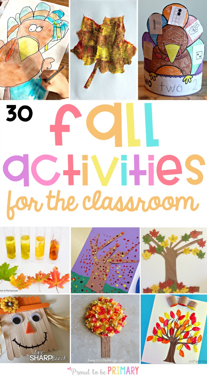 The BEST fall activities for the classroom and teachers. Plan your autumn lesson plans with these arts & crafts, fall science and STEM activities, literacy and math ideas kids will love! #fallactivities #stem #fallstem #fallscience #scienceforkids #autumnactivities #fallcrafts