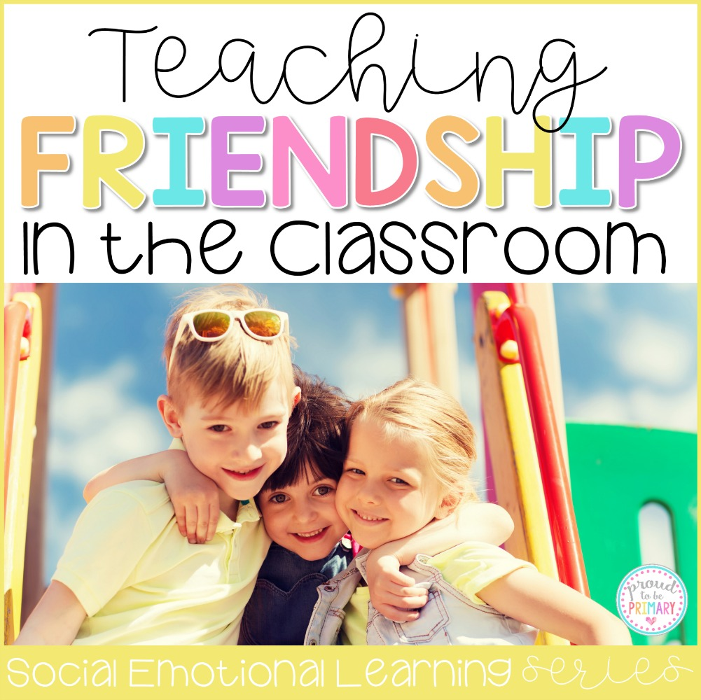 Teach friendship skills in the classroom to help kids develop strong relationship skills. Lessons and activity ideas include teaching children to share, take turns, listen, be a good friend, and show teamwork and cooperation. #friendshipskills #teacherfreebie #classroommanagement #socialresponsibility #socialemotionallearning