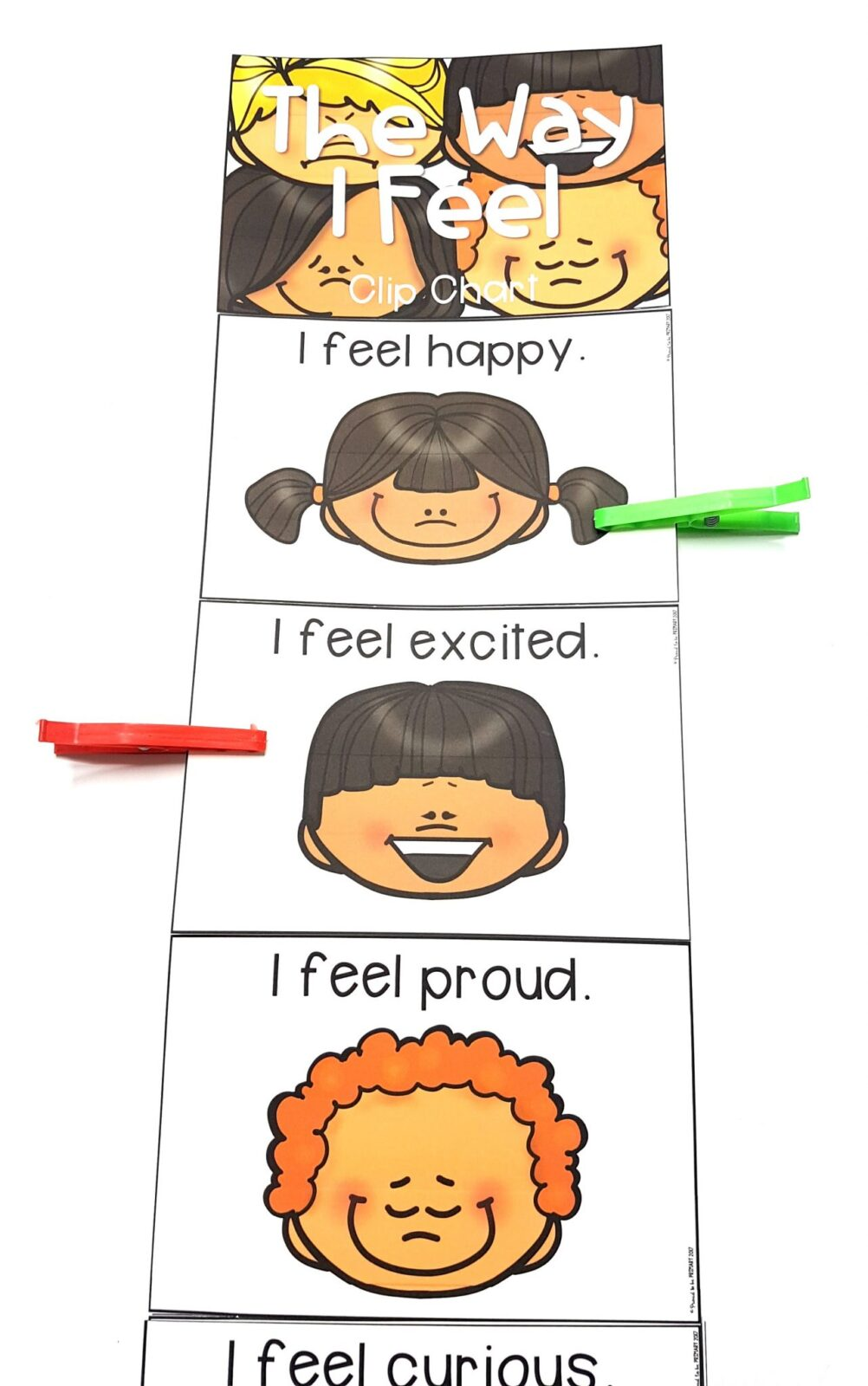 emotional skills - the way I feel clip chart