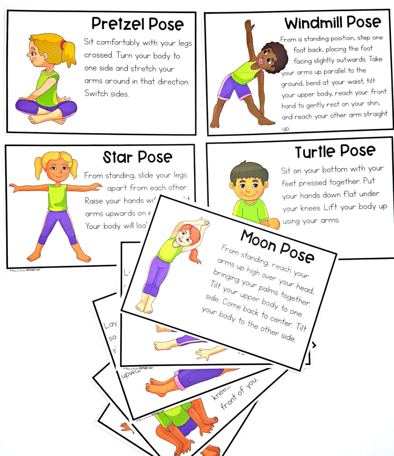 self-regulation strategies - yoga activity cards for kids