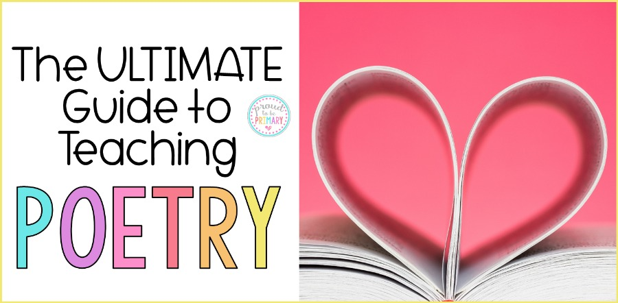 heart made with paper and title the ultimate guide to teaching poetry