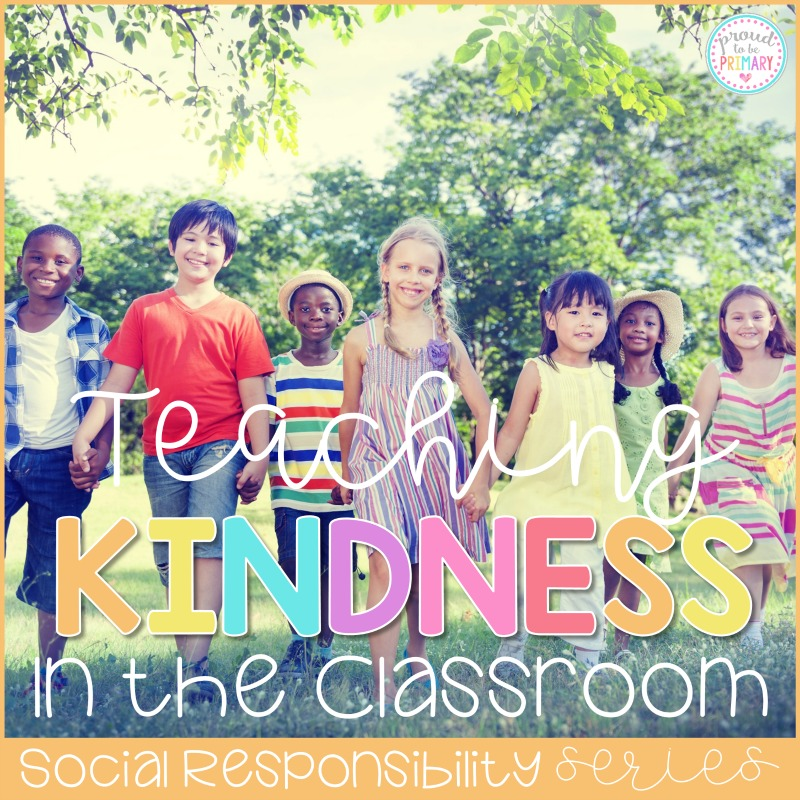 kids standing hand in hand outside - teaching kindness in the classroom title