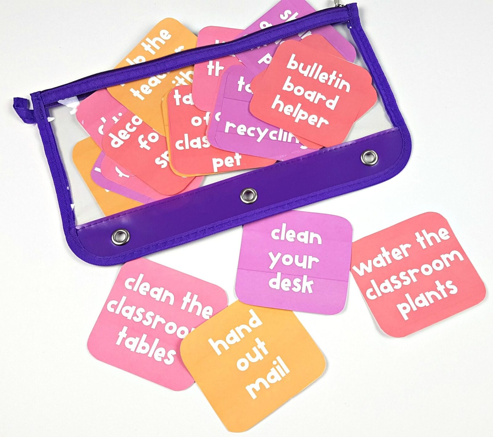 teaching responsibility in the classroom with responsibility cards