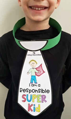 responsibility unit - i am a responsible super kid neck tie
