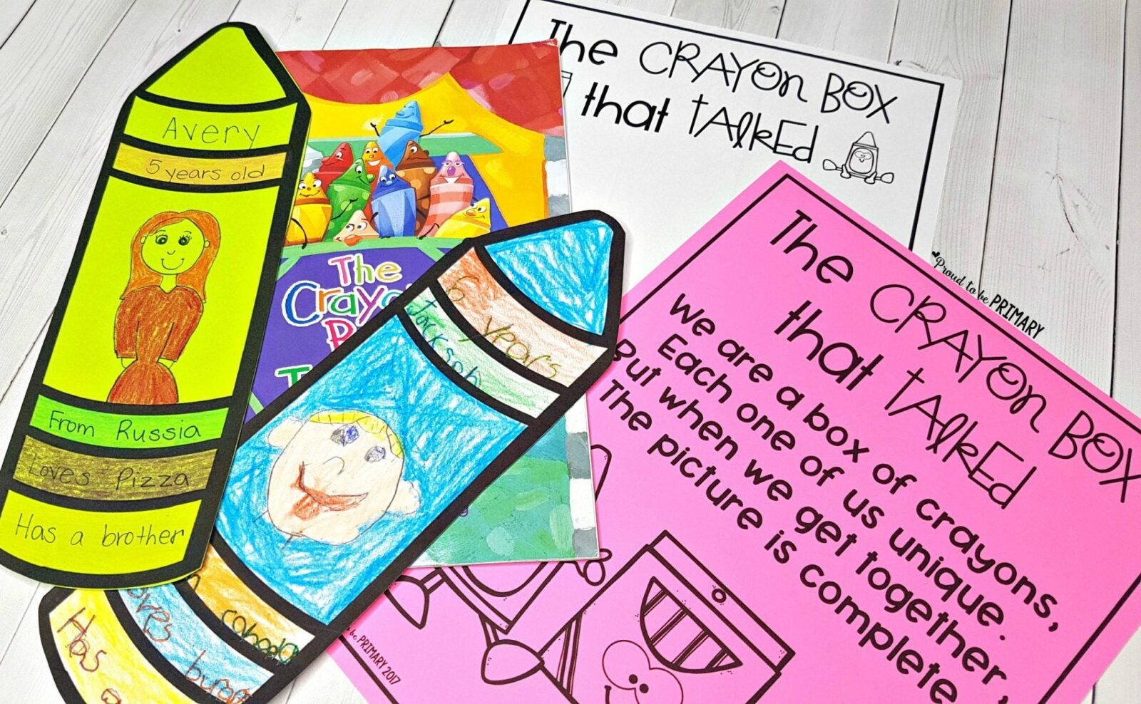 Respect Activities- The day the crayon talked poem and activities