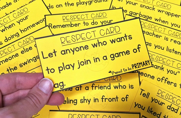 Respect Activities- respect game scenario cards for role playing during social responsibility lessons