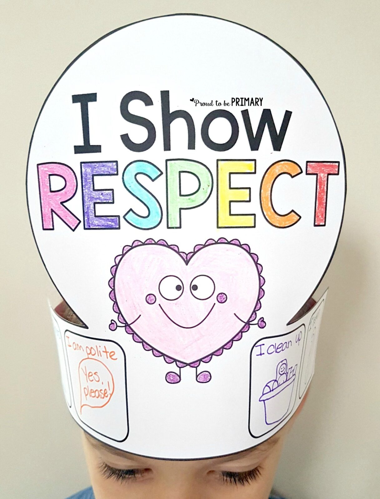 Respect Activities- I Show Respect hat craft for kids to make