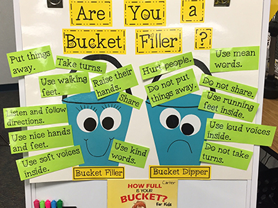 Are you a bucket filler? sort and anchor chart by Scholastic