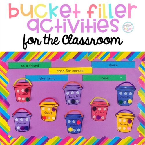 bucket filler activities for the classroom bulletin board