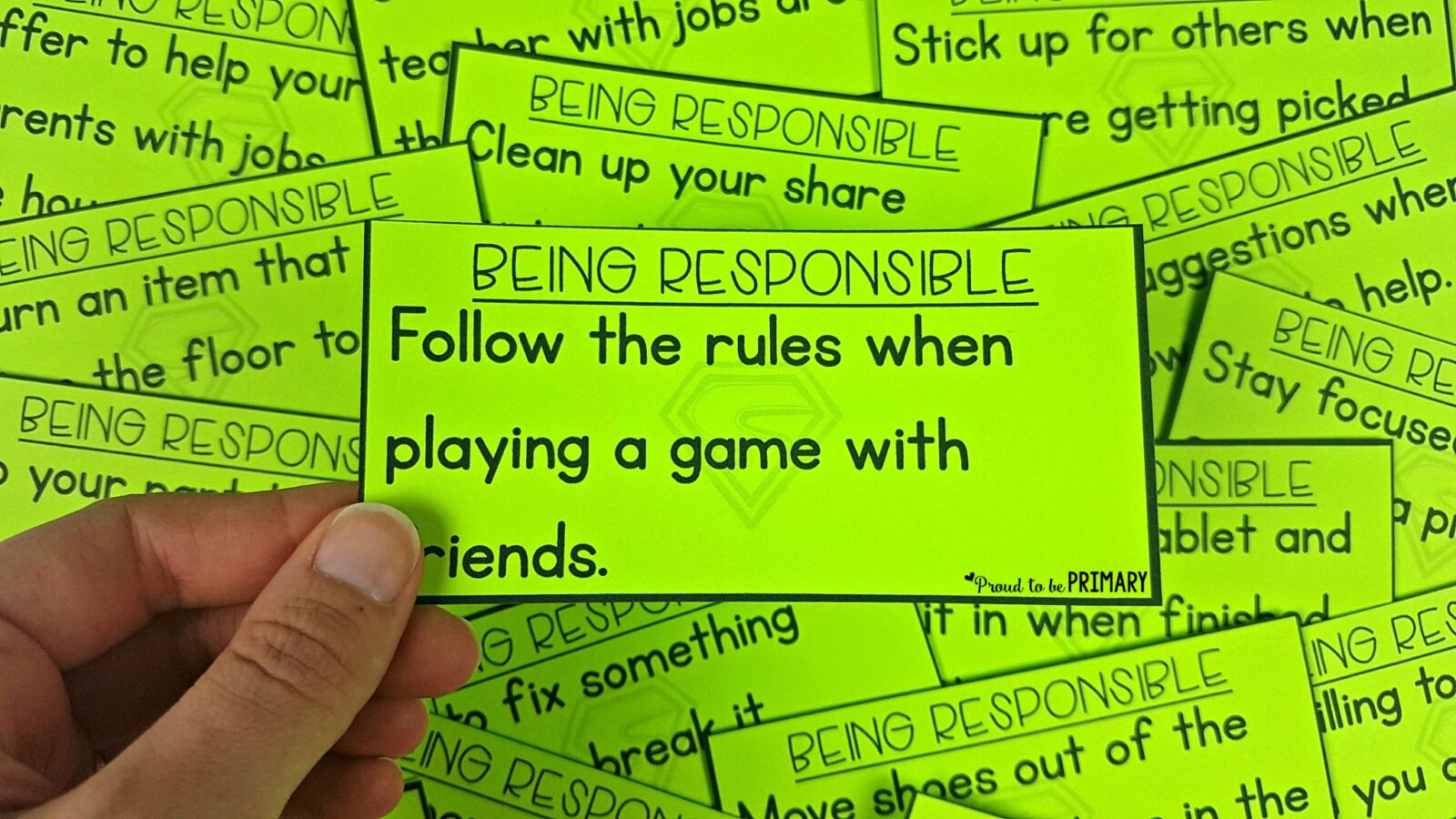 teach kids how to be responsible with scenario cards