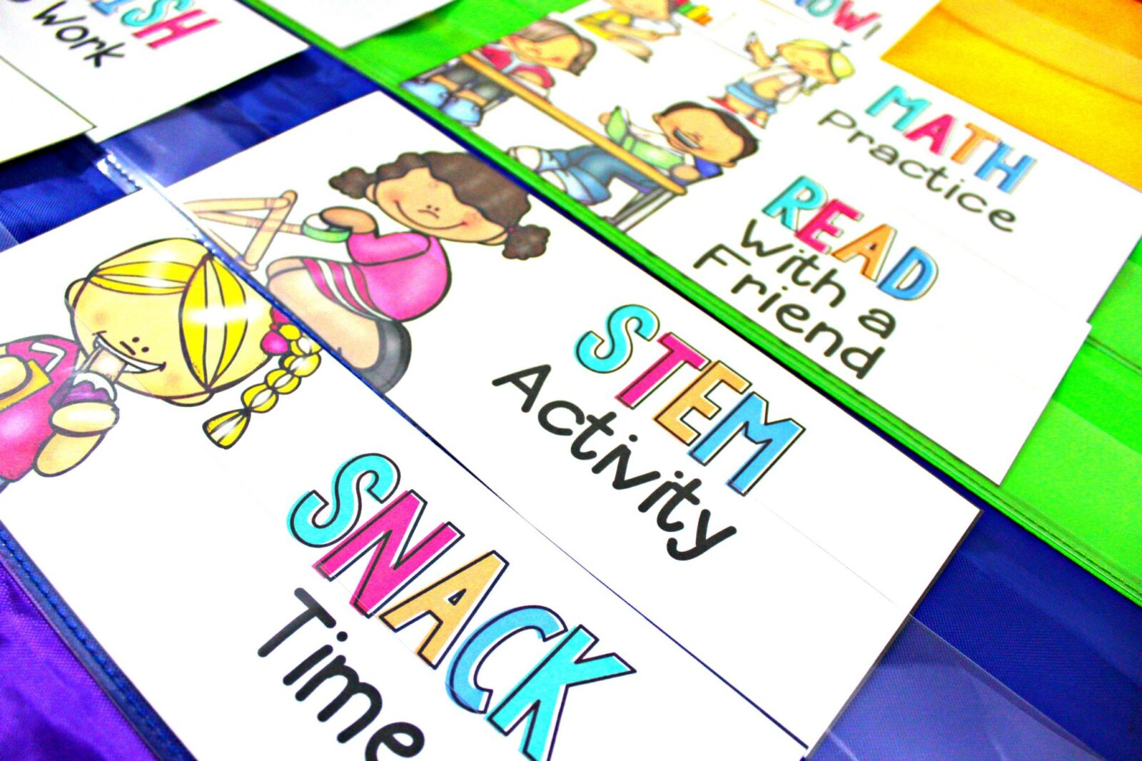 classroom management fast finisher cards