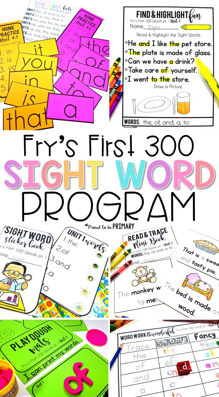 fry's first 300 sight word program for kids