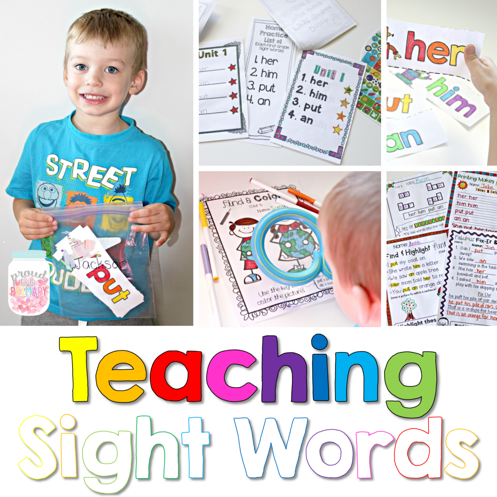 tips and tools for teaching sight words