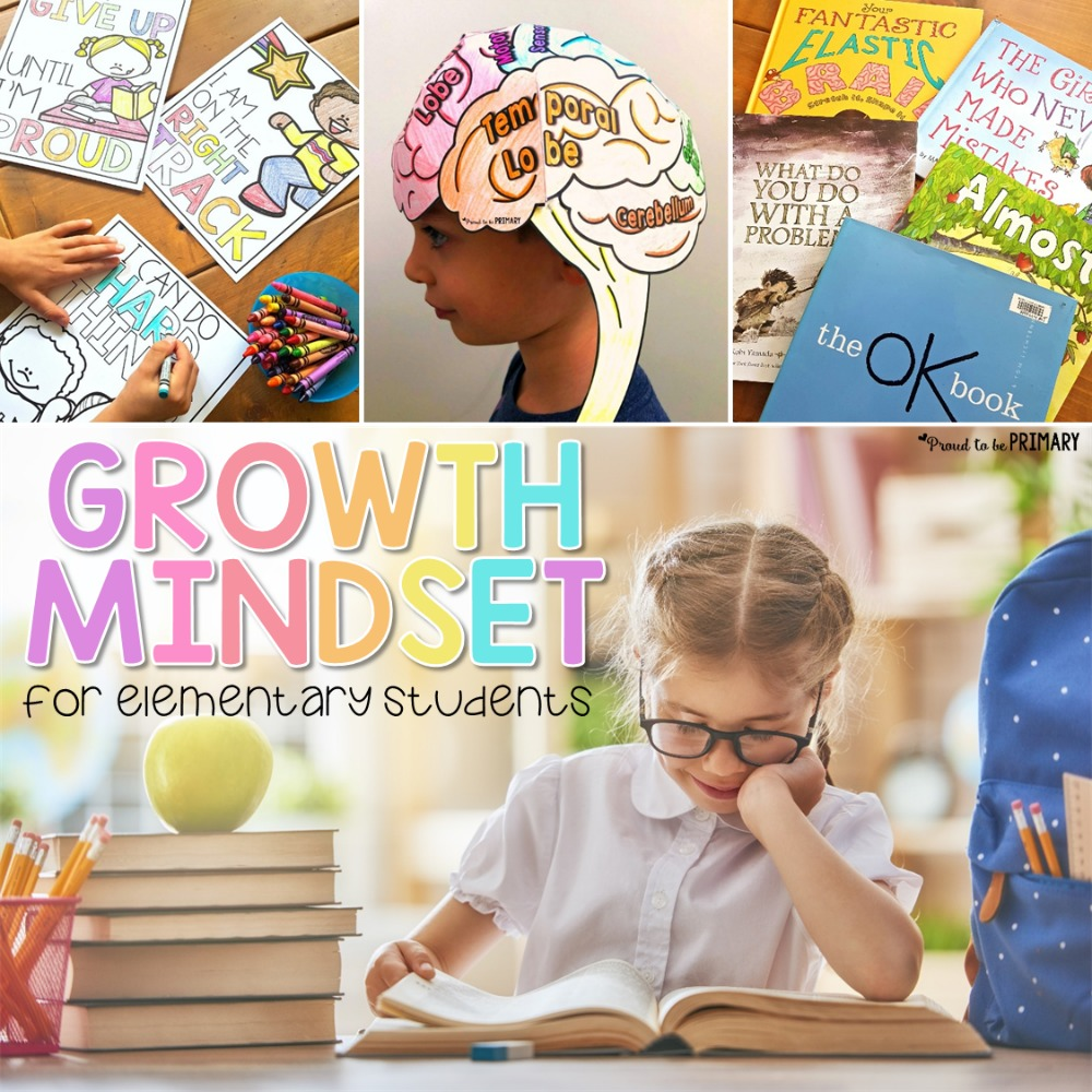 growth mindset activities for kids and elementary students