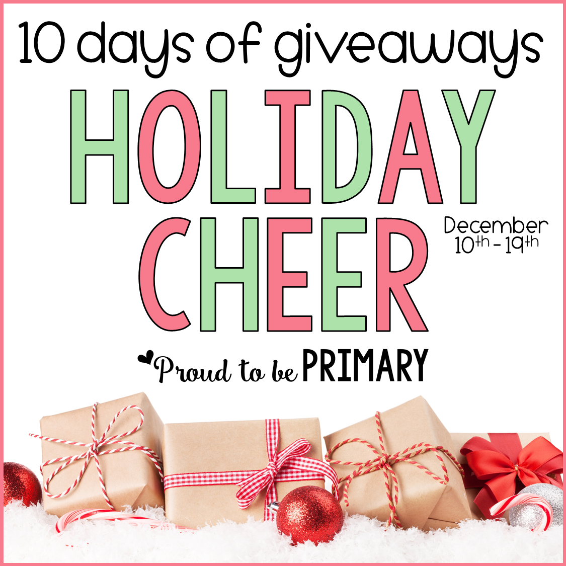 10 days of giveaways holiday cheer event