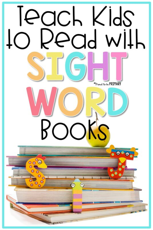teach kids to read with sight word books PIN