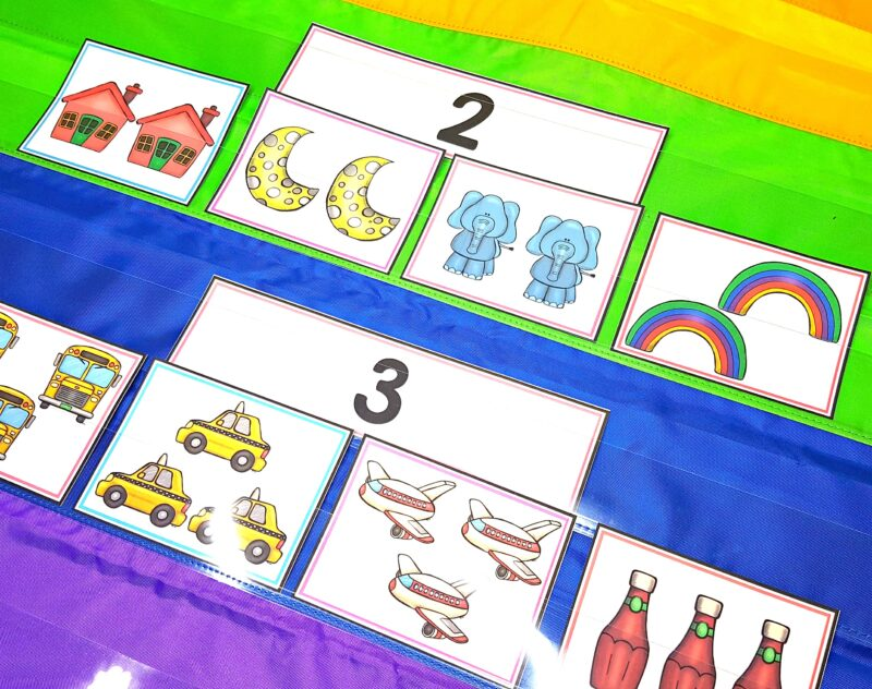 numbers to 5 sorting math activity