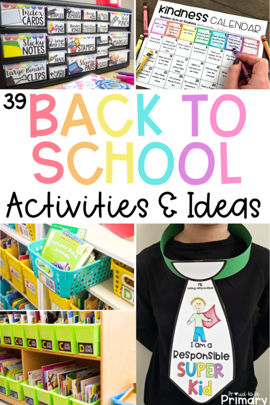back to school activities and ideas pin image