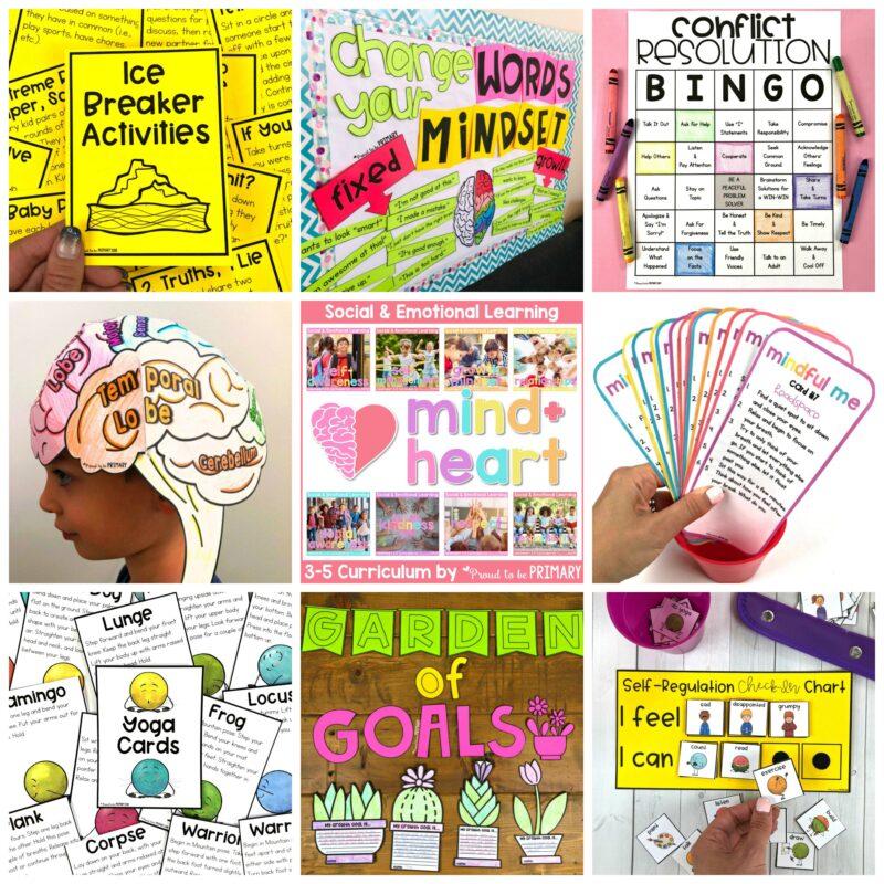 social emotional learning bundle for grades 3-5