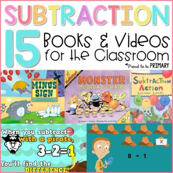 books and videos to teach subtraction strategies