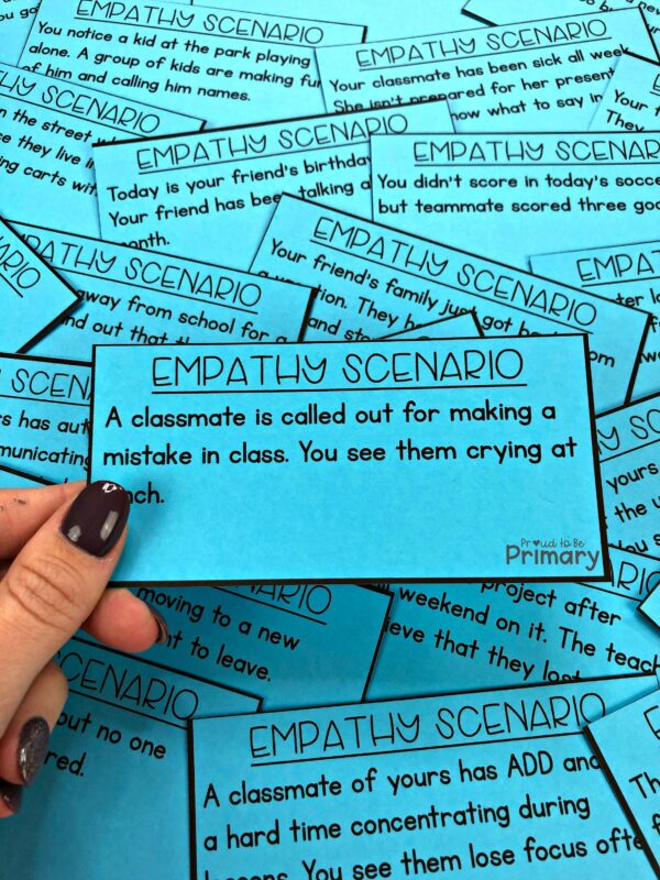 empathy scenario role-play task cards as a social-emotional activity