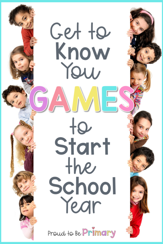 get to know you games for kids at the start of the year