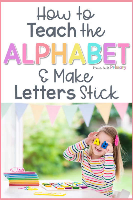 how to teach the alphabet post PIN