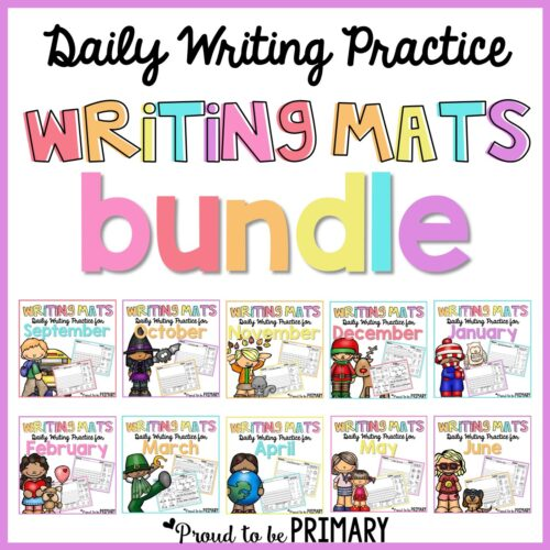 writing mats bundle of prompts for kids