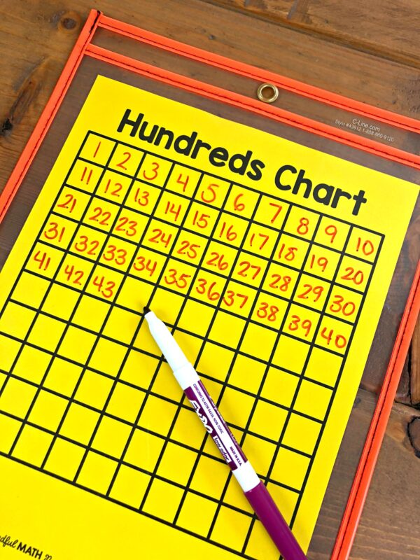 print numbers to 100 on a chart