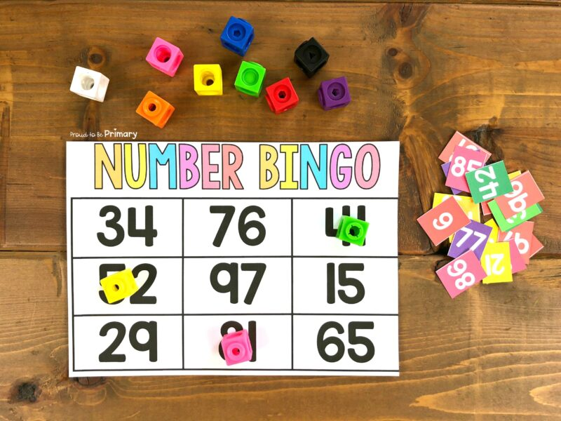 number bingo to 100 game