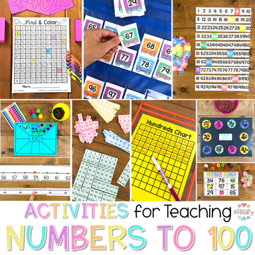 number activities to 100 header