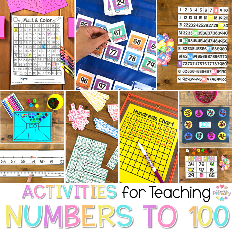activities for teaching numbers to 100 header