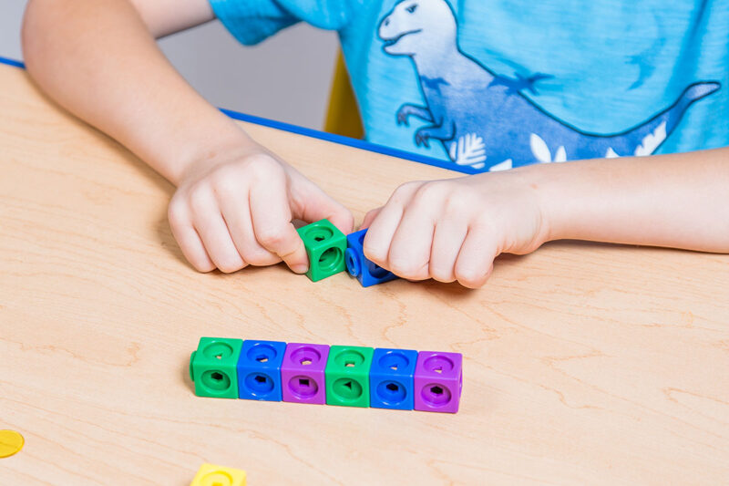 using blocks and cubes to create patterns