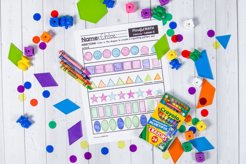 worksheets as pattern activities