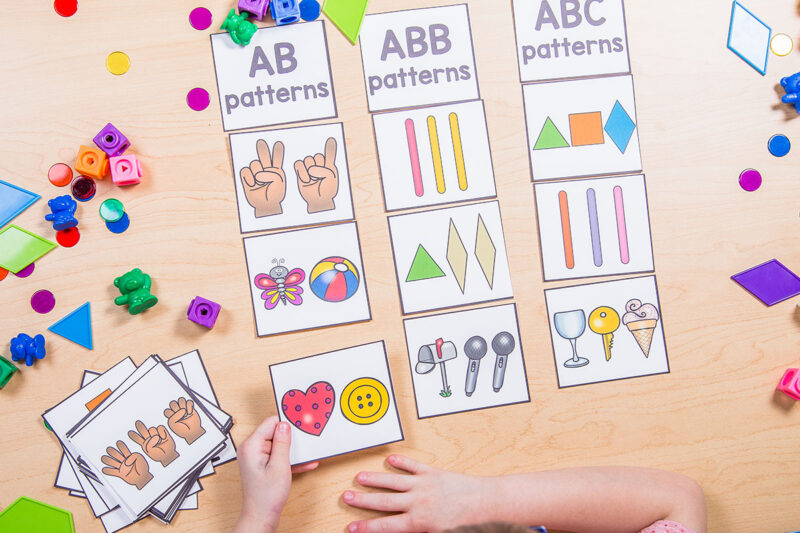 pattern and sorting activities for kids