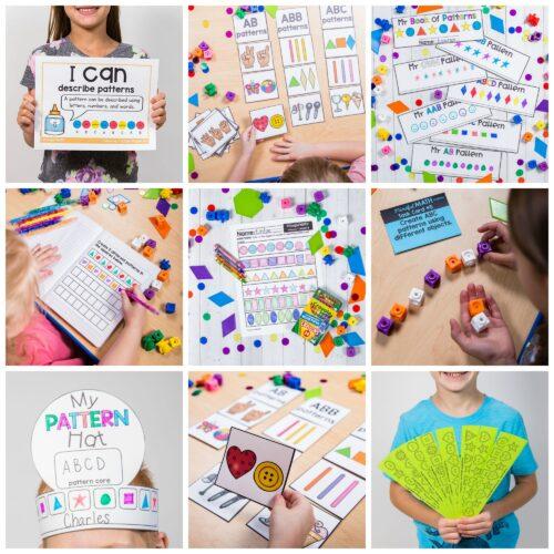pattern unit for kindergarten mindful math