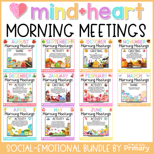 morning meeting social emotional learning resource