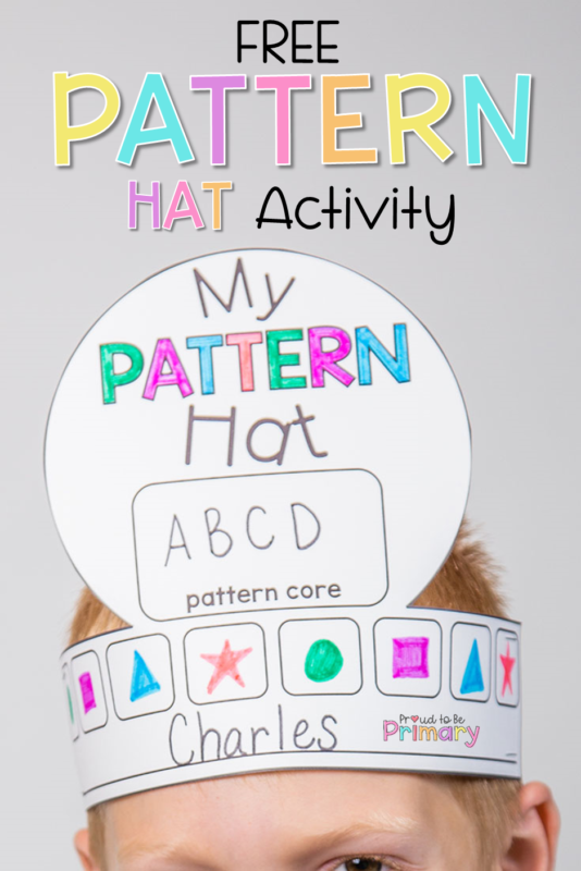 free pattern hat activity