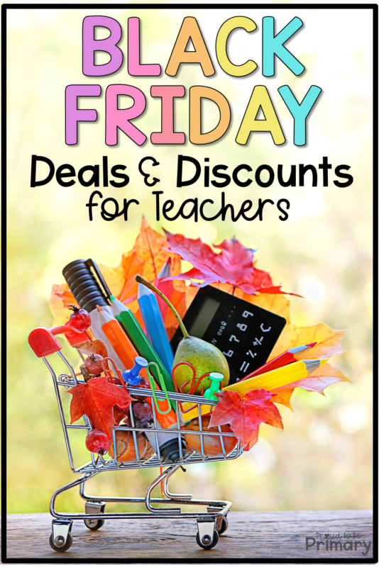 black friday deals and discounts for teachers