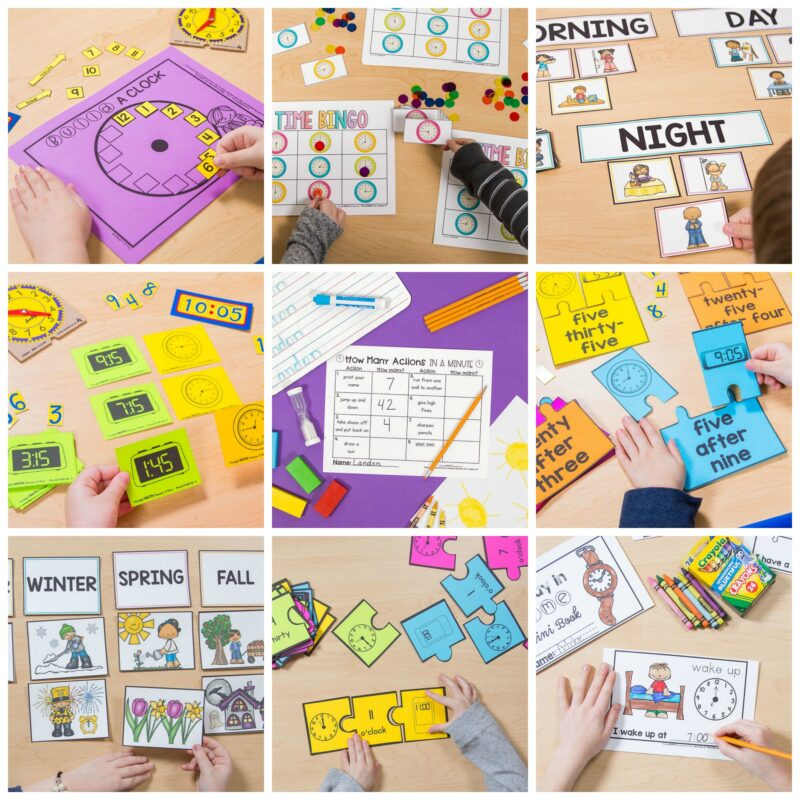time activities in measurement units - Mindful Math by Proud to be Primary