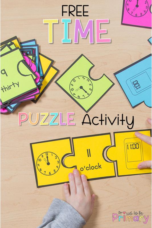 time match puzzle freebie