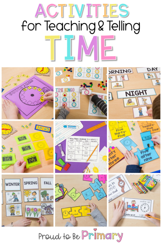 telling time activities for the classroom kids collage