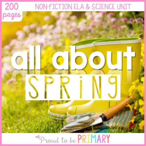 all about spring science unit for K-3