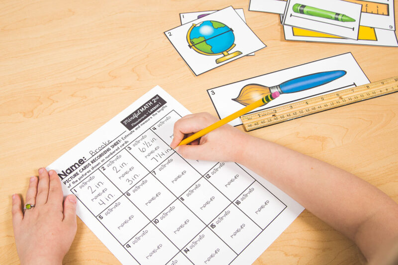 2nd grade measuring with a ruler task cards activity