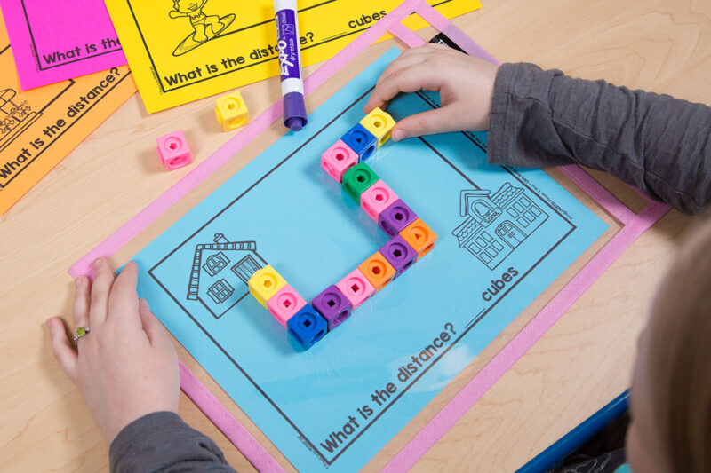 first grade measuring distance with cubes activity