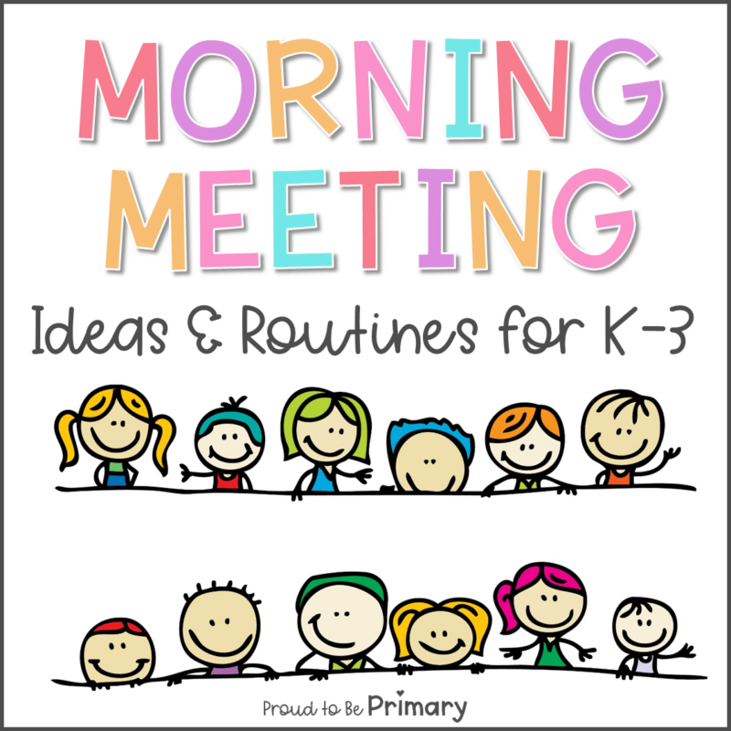 morning meeting ideas and routines for K-3 - cartoon kids