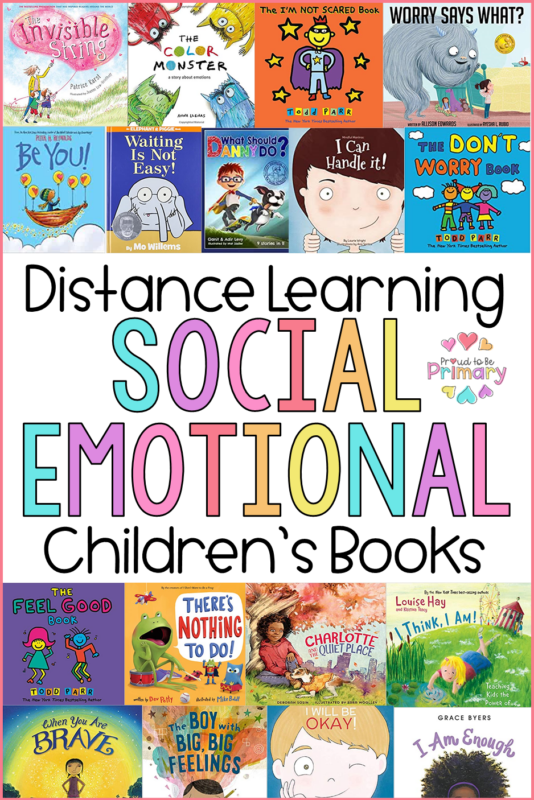 Distance Learning Social Emotional Children's Books